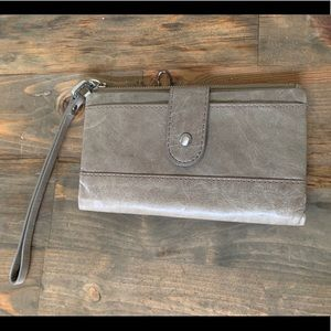 Grey HOBO wallet. Genuine leather. Gently used.